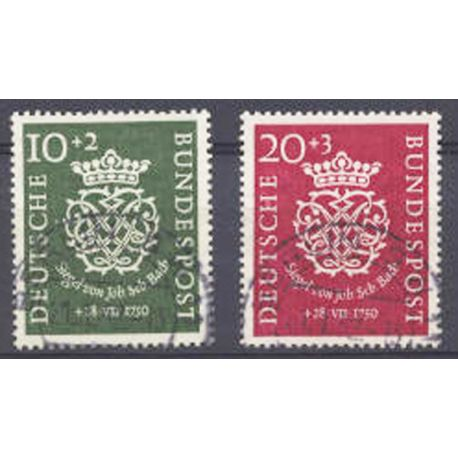 Briefmarke Sammlung die BRD N° Yvert und Tellier 7/8 gestempelt