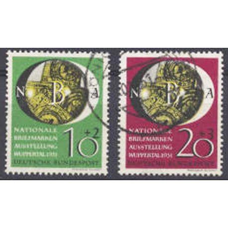 Sello colección RFA N° Yvert y Tellier 27/28 Borrados