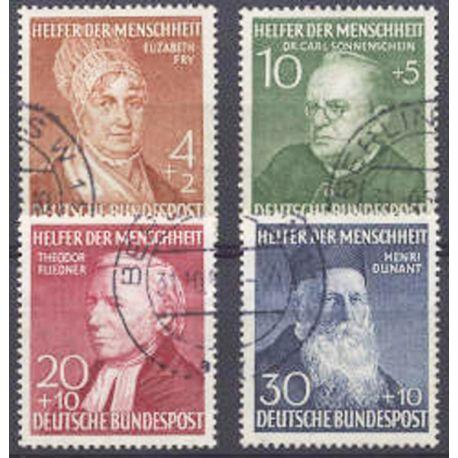 Francobollo collezione RFT N° Yvert e Tellier 42/45 cancellati
