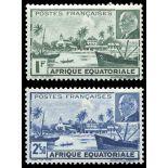 Briefmarke Sammlung AEF N° Yvert und Tellier 90/91 neun ohne Scharnier