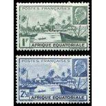 Timbre collection AEF N° Yvert et Tellier 90/91 Neuf sans charnière