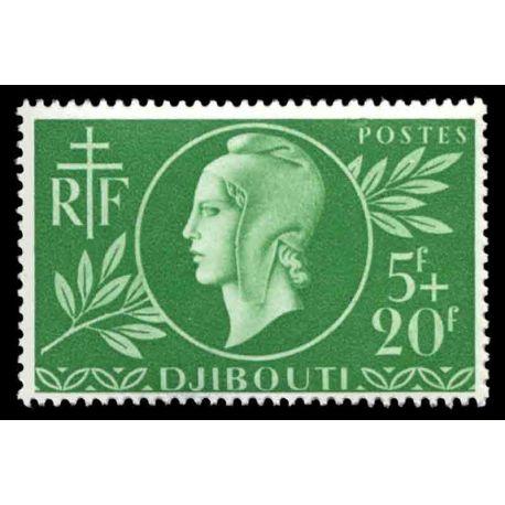 Timbre collection Cote des Somalis N° Yvert et Tellier 253 Neuf sans charnière