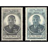 Francobollo collezione Cote del Somalis N° Yvert e Tellier 262/263 nove senza cerniera