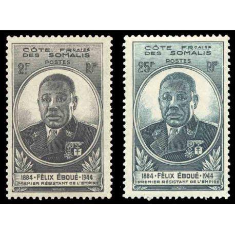 Timbre collection Cote des Somalis N° Yvert et Tellier 262/263 Neuf sans charnière