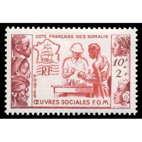 Francobollo collezione Cote del Somalis N° Yvert e Tellier 283 nove senza cerniera