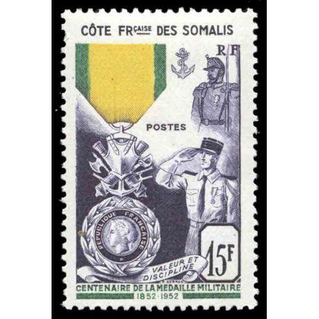 Timbre collection Cote des Somalis N° Yvert et Tellier 284 Neuf sans charnière