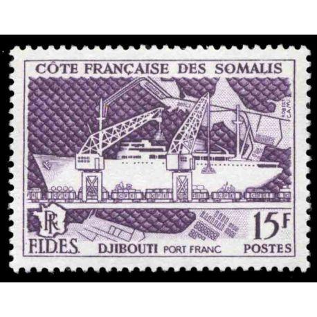 Timbre collection Cote des Somalis N° Yvert et Tellier 285 Neuf sans charnière
