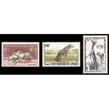Francobollo collezione Cote del Somalis N° Yvert e Tellier 287/289 nove senza cerniera