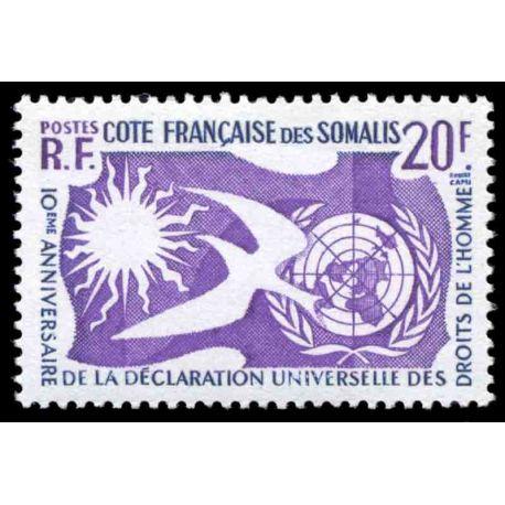 Timbre collection Cote des Somalis N° Yvert et Tellier 291 Neuf sans charnière