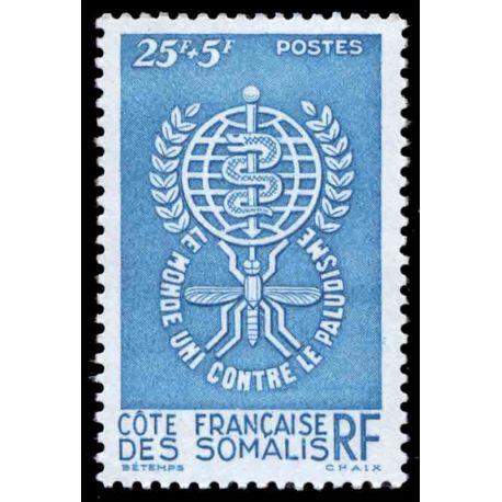 Timbre collection Cote des Somalis N° Yvert et Tellier 304 Neuf sans charnière