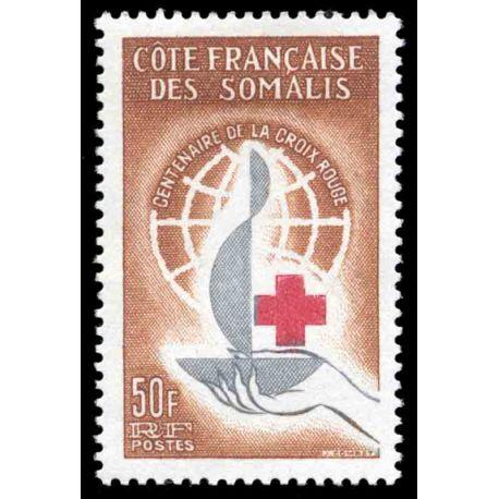 Timbre collection Cote des Somalis N° Yvert et Tellier 315 Neuf sans charnière