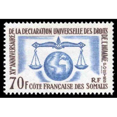 Francobollo collezione Cote del Somalis N° Yvert e Tellier 318 nove senza cerniera