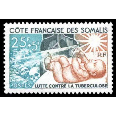 Timbre collection Cote des Somalis N° Yvert et Tellier 324 Neuf sans charnière