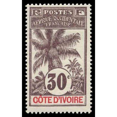 Francobollo collezione Costa d'Avorio N° Yvert e Tellier 28 nove con cerniera