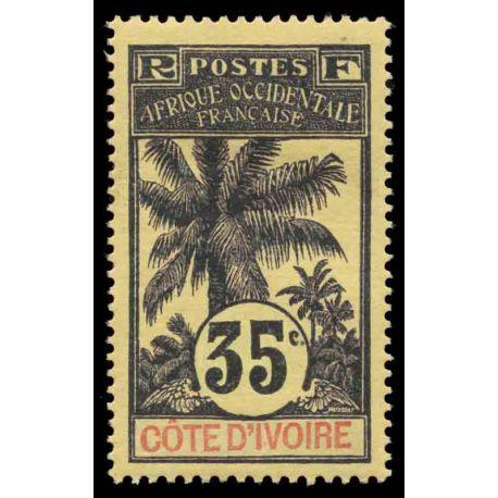 Francobollo collezione Costa d'Avorio N° Yvert e Tellier 29 nove con cerniera