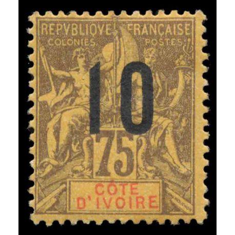 Francobollo collezione Costa d'Avorio N° Yvert e Tellier 40 nove con cerniera