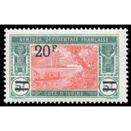 Francobollo collezione Costa d'Avorio N° Yvert e Tellier 80 nove senza cerniera
