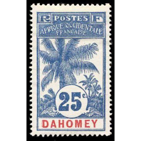 Francobollo collezione Dahomey N° Yvert e Tellier 24 nove con cerniera