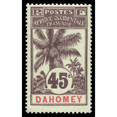 Francobollo collezione Dahomey N° Yvert e Tellier 27 nove con cerniera
