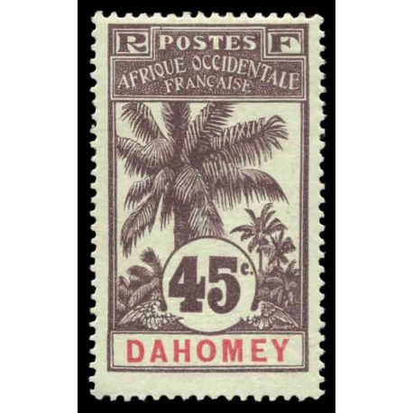 Timbre collection Dahomey N° Yvert et Tellier 27 Neuf avec charnière