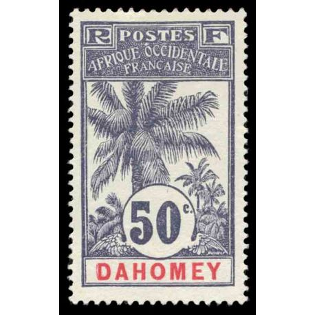 Timbre collection Dahomey N° Yvert et Tellier 28 Neuf avec charnière