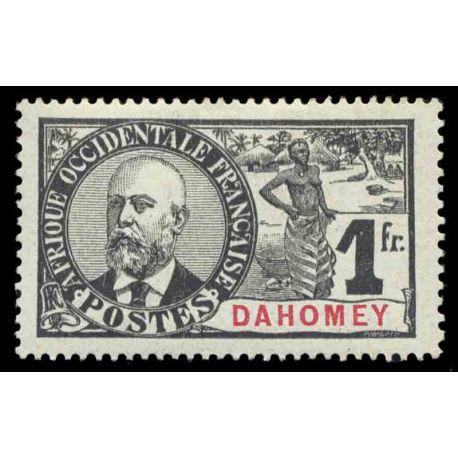 Francobollo collezione Dahomey N° Yvert e Tellier 30 nove con cerniera