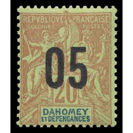 Francobollo collezione Dahomey N° Yvert e Tellier 36 nove senza cerniera