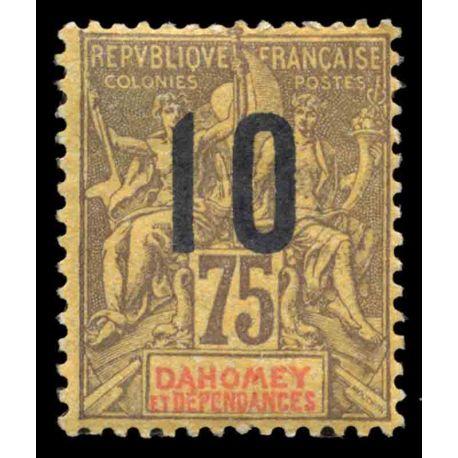 Francobollo collezione Dahomey N° Yvert e Tellier 42 nove senza cerniera