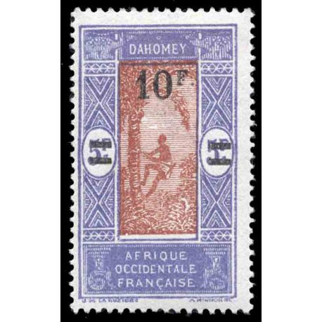 Francobollo collezione Dahomey N° Yvert e Tellier 83 nove con cerniera