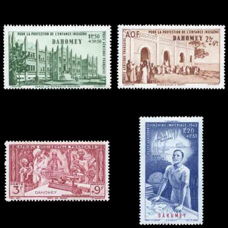 Timbre collection Dahomey N° Yvert et Tellier PA 6/9 Neuf sans charnière