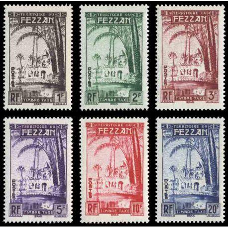 Francobollo collezione Fezzan N° Yvert e Tellier QUALSIASI 6/11 nove senza cerniera