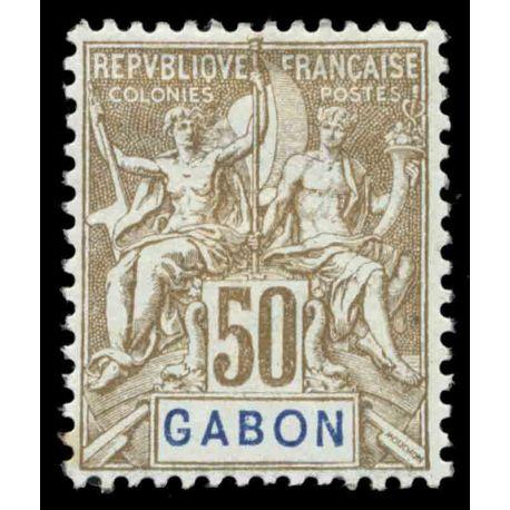 Timbre collection Gabon N° Yvert et Tellier 28 Neuf avec charnière