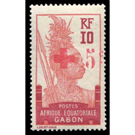 Timbre collection Gabon N° Yvert et Tellier 80 Neuf avec charnière