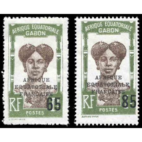 Francobollo collezione Gabon N° Yvert e Tellier 108/109 nove senza cerniera