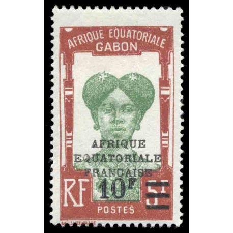 Timbre collection Gabon N° Yvert et Tellier 114 Neuf avec charnière
