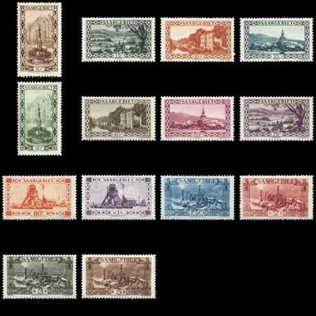 Timbre collection Sarre N° Yvert et Tellier 107/120 Neuf avec charnière