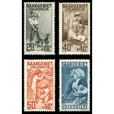 Timbre collection Sarre N° Yvert et Tellier 103/106 Neuf sans charnière