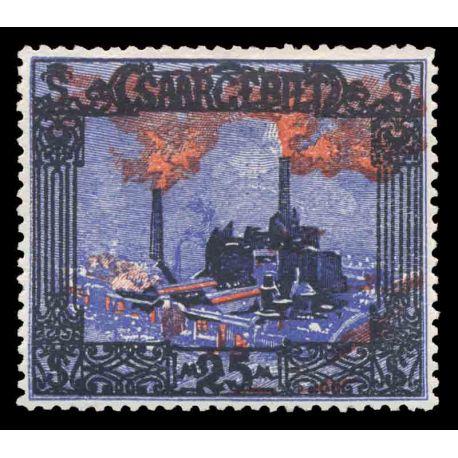 Timbre collection Sarre N° Yvert et Tellier 68 Neuf avec charnière