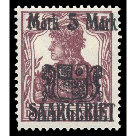 Timbre collection Sarre N° Yvert et Tellier 51 Neuf avec charnière