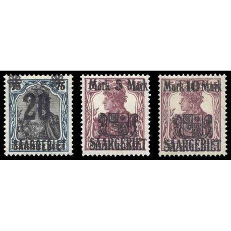 Timbre collection Sarre N° Yvert et Tellier 50/52 Neuf avec charnière
