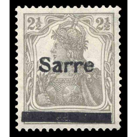 Timbre collection Sarre N° Yvert et Tellier 2 Neuf sans charnière