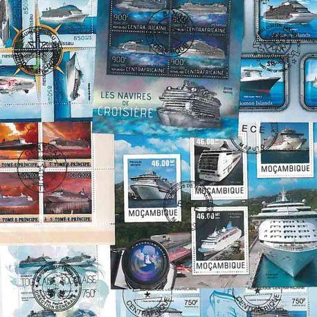 Collection Timbres bateaux 10 blocs modernes oblitérés sur le théme des Paquebot à partir de 7,50 €