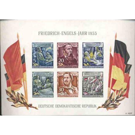Sello colección Alemania del Este N° Yvert y Tellier BF 7 Nueve con bisagra