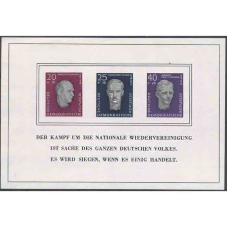 Stamp collection East Germany N° Yvert and Tellier BF 9 Mint with hinge