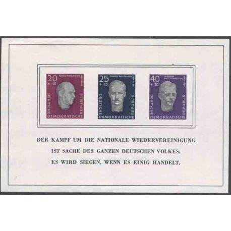 Timbre collection Allemagne de l'Est N° Yvert et Tellier BF 9 Neuf avec charnière