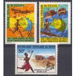 Timbre collection Bénin N° Yvert et Tellier 434/436 Neuf sans charnière