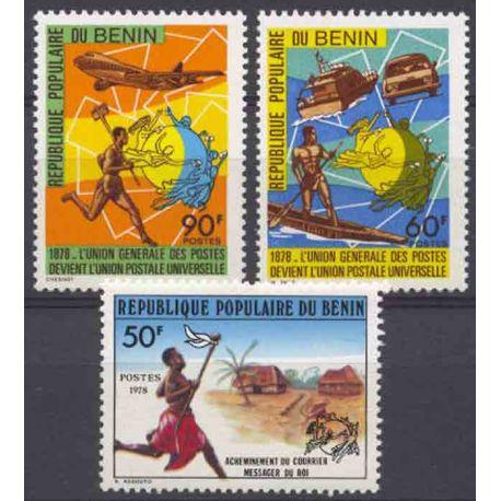 Francobollo collezione Benin N° Yvert e Tellier 434/436 nove senza cerniera