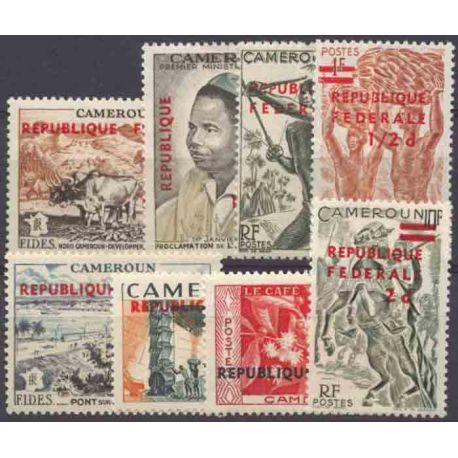 Francobollo collezione Camerun N° Yvert e Tellier 320/327 nove senza cerniera