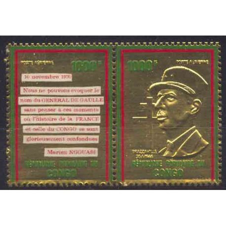 Briefmarke Sammlung der Kongo N° Yvert und Tellier PA 135/136 neun ohne Scharnier