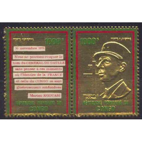Francobollo collezione Congo N° Yvert e Tellier PA 135/136 nove senza cerniera